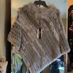 Jackets & Blazers - Rabbit Fur Poncho